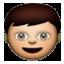 Little Boy LOoks Happy Smiley Face, Emoticon