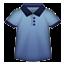 Blue Shirt With Collar Smiley Face, Emoticon