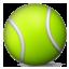 Green Tennis Ball Smiley Face, Emoticon