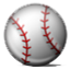 Plain White Baseball  Smiley Face, Emoticon
