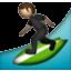 Guy Surfing Around Smiley Face, Emoticon