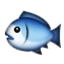 Blue And White Fish Smiley Face, Emoticon