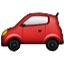 Red Tiny Car Smiley Face, Emoticon