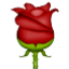 Bright Red Rose Smiley Face, Emoticon