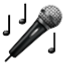 Notes And Microphone Smiley Face, Emoticon