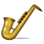 Golden Music Saxophone Smiley