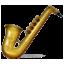 Golden Music Saxophone Smiley Face, Emoticon