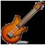 Brown Music Guitar  Smiley Face, Emoticon