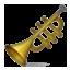 Golden Music Trumpet Smiley Face, Emoticon