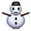 White Winter Snowman Smiley Face, Emoticon