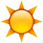 Warm Bright Sun Smiley Face, Emoticon