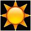 Warm Bright Sun Smiley Face, Emoticon