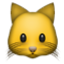 Cute Yellow Cat Smiley Face, Emoticon