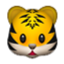 Cat With Stripes Smiley Face, Emoticon