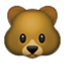 Cute Brown Bear Smiley Face, Emoticon