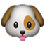 Cute Brown-Eared Dog Smiley Face, Emoticon