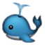 Blue Whale Spouting Water Smiley Face, Emoticon