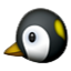 Black And Yellow Penguin  Smiley