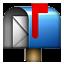 Blue Letter Box Smiley Face, Emoticon