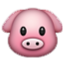 Cute Pink Pig Smiley Face, Emoticon