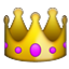 Golden Crown With Jewels Smiley Face, Emoticon