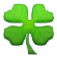 Fresh Green Clover Smiley Face, Emoticon