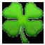 Fresh Green Clover Smiley Face, Emoticon