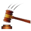 Brown Judge Hammer Smiley Face, Emoticon