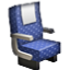 Blue Office Chair Smiley Face, Emoticon