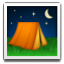Tent Under The Moon Smiley Face, Emoticon