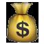 Brown Money Bag Smiley Face, Emoticon