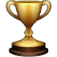 Golden Winners Trophy Smiley Face, Emoticon