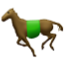 Horse Trotting Away Smiley Face, Emoticon