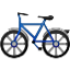 Blue Bicycle Ride Smiley Face, Emoticon