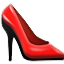 Shiny Red Pumps Smiley Face, Emoticon