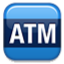 Blue ATM Sign Smiley Face, Emoticon
