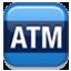 Blue ATM Sign Smiley Face, Emoticon