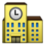 Building With Big Clock Smiley Face, Emoticon
