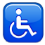 Disabled Symbol Blue Box Smiley Face, Emoticon
