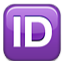 ID In Purple Box Smiley Face, Emoticon