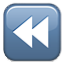 Reverse Button Blue Box Smiley Face, Emoticon