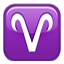 Aries Zodiac Sign Smiley Face, Emoticon