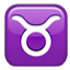 Taurus Zodiac Sign Smiley Face, Emoticon
