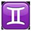 Gemini Zodiac Sign Smiley Face, Emoticon