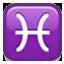 Pisces Zodiac Sign Smiley Face, Emoticon