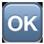 Okay In Blue Box Smiley Face, Emoticon