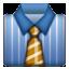 Blue Top Yellow Tie Smiley Face, Emoticon