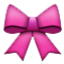 Pink Girly RIbbon  Smiley Face, Emoticon