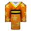 Yellow Japanese Kimono Smiley Face, Emoticon