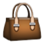 Brown Hand Bag Smiley Face, Emoticon